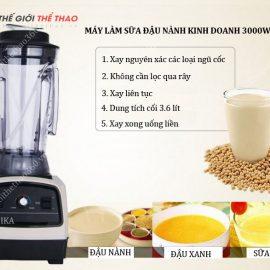máy làm sữa đậu nành công nghiệp shika 3000w