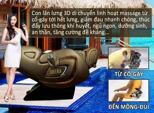 ghế massage toàn thân 4d shika