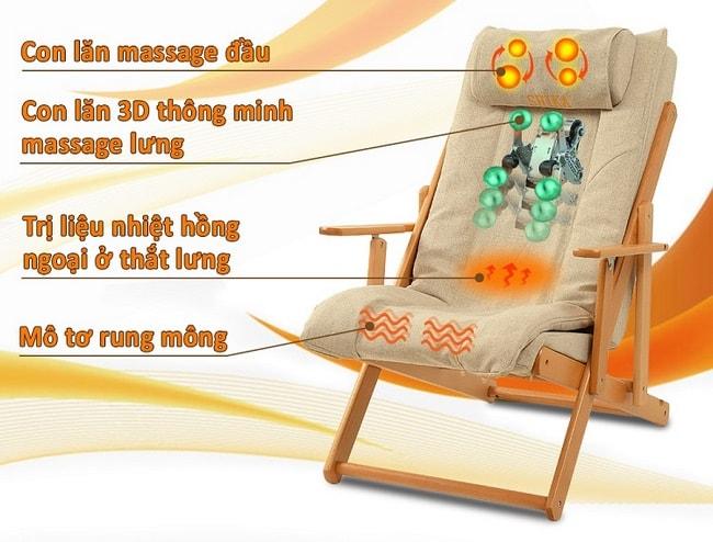 ghế massage mini 3d shika