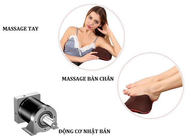 gối massage hồng ngoại asuka nhật bản
